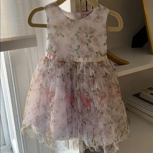 Monnalisa Bebe floral dress baby size 12-24 months